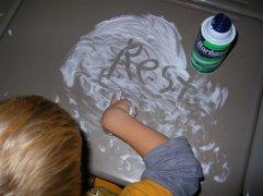 Shaving Cream Writing